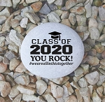 Class of 2020 You Rock Engraved Keepsake Stone 4-5
