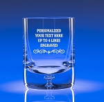 Scandia Crystal On The Rocks Bar Glass Engraved