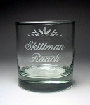 Aristocrat On The Rocks 11 oz Personalized Bar Glass