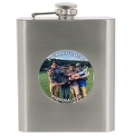 Flask 6 oz SS with Custom Photo Insert Personalized