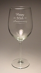 Colossal 19 oz Wine Glass Personalized