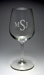 Tasters 12 oz Wine Glass Engraved