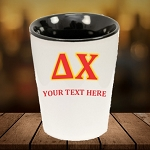 Greek Fraternity Sorority Shot Glass with Black Interior Personalized