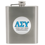 Flask 6 oz SS Greek Letter Insert Personalized