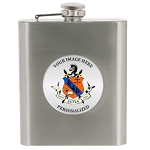 Flask 6 oz SS Greek Logo Photo Insert Personalized