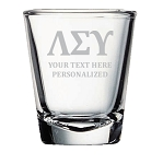 Greek Fraternity Sorority Shot Glass 2 oz Personalized Engraved