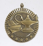 Lamp of Knowledge Five Star Series Medal