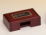 Rosewood Business Card Box