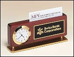 Combination Clock and Business cardholder