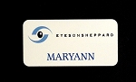 Aluminum White Identification Name Tag 1.5x3  pin OR magnetic back