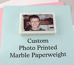 Photo Printed Marble Paperweight 2x4