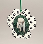 Paw Print Photo Ornament