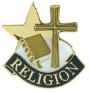 Religion Academic Series Lapel Pin