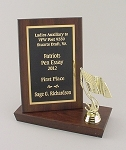 4x6 Billboard Trophy Plaque     Available in Cherry Woodgrain or Black Finish