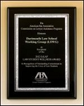 Black Piano Finish Plaque with silver plate     3 sizes