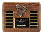 Eagle Perpetual Plaque 10x13  12 Name Plates