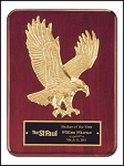 Rosewood Eagle Plaque 9x12