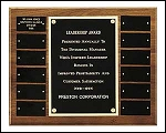 Perpetual Plaque with 12 name plates 12x15