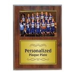 Slide-In Frame Plaque Cherry Finish  holds 4 x 6 photo