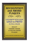 4x6 Traditional Plaque Black Finish