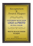 5x7 Traditional Plaque Black Finish