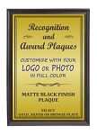 7x9 Traditional Plaque Black Finish