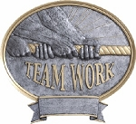 Teamwork Resin Oval Award Plaque