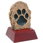 Paw Print Sculpture Resin Memorial or Award