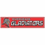 Riverheads Gladiators Vehicle Magnet 3x12