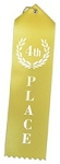 4th Fourth Place Yellow Award Ribbon 2x8