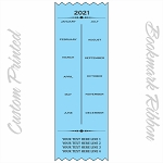 2021 Calendar Ribbons Custom Printed Promotional Bookmarks 3