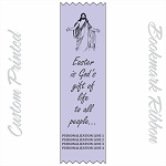 CUSTOM PRINTED Easter Satin Ribbon Bookmark 2