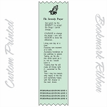 CUSTOM PRINTED Serenity Prayer Satin Ribbon Bookmark 2