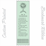 CUSTOM PRINTED The Ten Commandments Satin Ribbon Bookmark 2