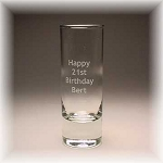 Cordial Shot Glass 2oz  Engraved Personalized