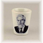 Photo Shot Glass White Ceramic Personalized with your photo or logo