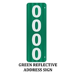 911 Address Number Sign Green Reflective