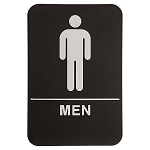 Mens Bathroom ADA Sign 6x9 Black