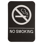 No Smoking ADA Sign 6x9 Black