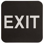 Exit ADA Sign 6x6 Black