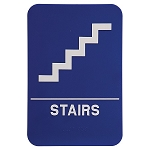 Stairs ADA Sign 6x9 Blue