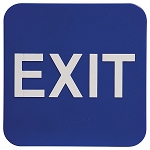 Exit ADA Sign 6x6 Blue