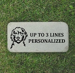 Goldendoodle Pet Memorial Grave Marker 6x12 Bluestone