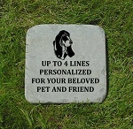 Basset Hound Memorial Pet Headstone 12x12