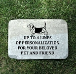 Basset Hound Memorial Pet Headstone 12x18
