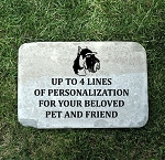 Schnauzer Pet Memorial Stone 12x18