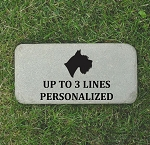 Schnauzer Pet Memorial Stone 6x12