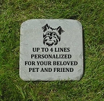 Yorkie Yorkshire Terrier Pet Memorial Grave Stone 12x12