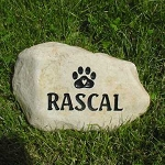 Dog Paw Print Pet Memorial Grave Marker Garden Stone River Rock 7