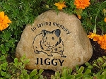 Hamster Pet Memorial Grave Marker Garden Stone River Rock 7